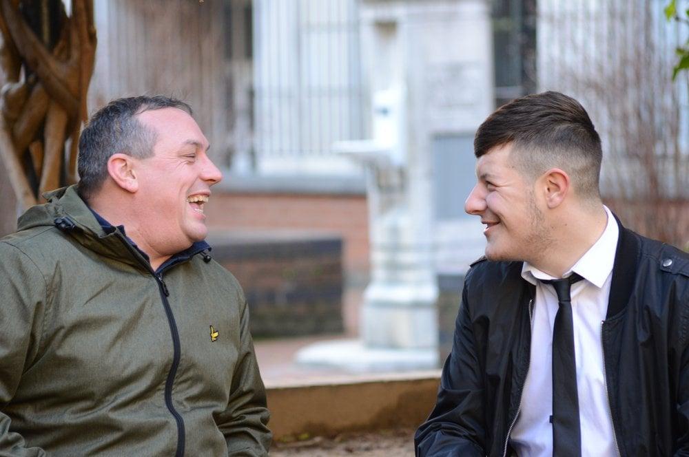 Jack McCann and support keyworker Chris