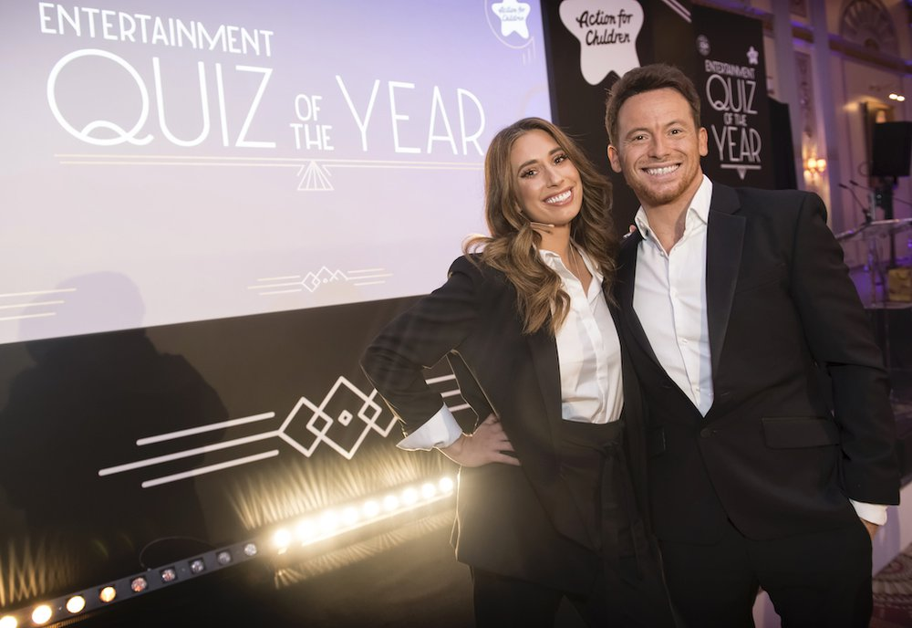 Joe Swash and Stacy Solomon at Entertainment quiz of the year