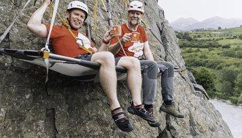 Novice Barry Smyth joins mountaineer Paul Kellagher for 100 meter portaledge challenge.jpg