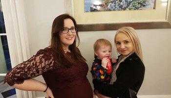 Evie, Sarah and Sarah's son