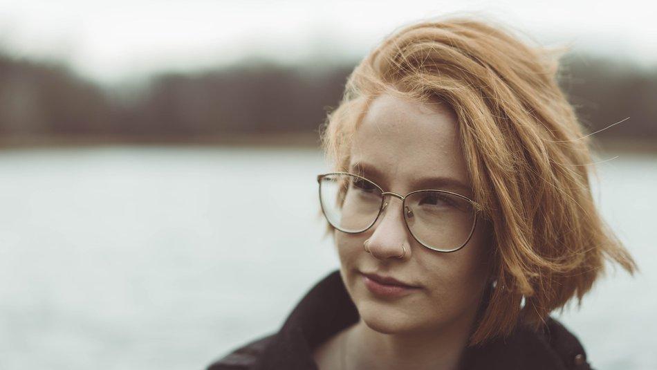 Teenage girl with piercings