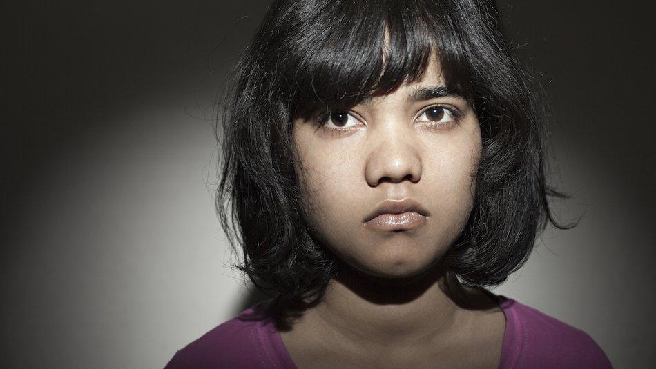 Worried looking girl